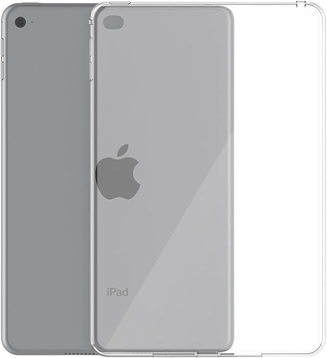iPad Mini 5/4 Case, Asgens Transparent Slim Silicone Case Flexible Soft TPU Tablet Computer Case for Apple iPad Mini 5 and iPad Mini 4 (2019/2015 Model, 5th/4th Generation)