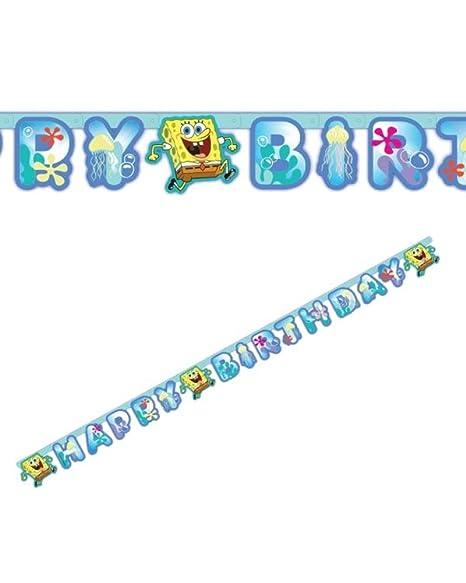 Banderines Banner Spongebob, decoración fiesta cumpleaños ...