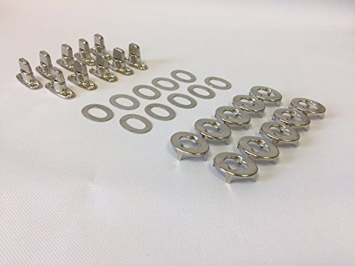 Turn Button Eyelet and Stud, Common Sense Fasteners, 10 Piece Set, Marine Grade Nickel Plated Brass, Dot (Common Sense Fastener)