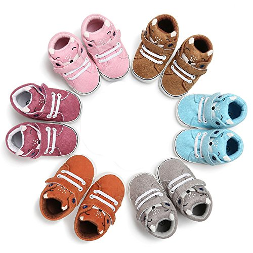 Isbasic Baby Boys Girls High-tops Sneakers Toddler Soft Sole First Walkers Shoes