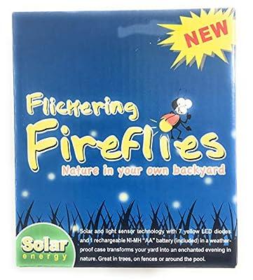 Flickering Fireflies Lights Solar Powered 7 Magic Fireflies Bulb String