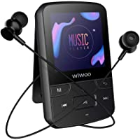 Wiwoo 16GB Bluetooth Sports MP3 Player with Clip FM Radio Voice Recorder & Earphones
