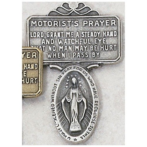 Miraculous Medal, Virgin Saint Mary, Immaculate Conception Medal Visor Clip Visor Clips