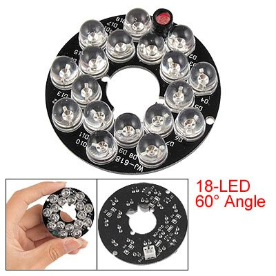 Security Camera Circle 18-LED Bulbs IR Infrared Board Plate