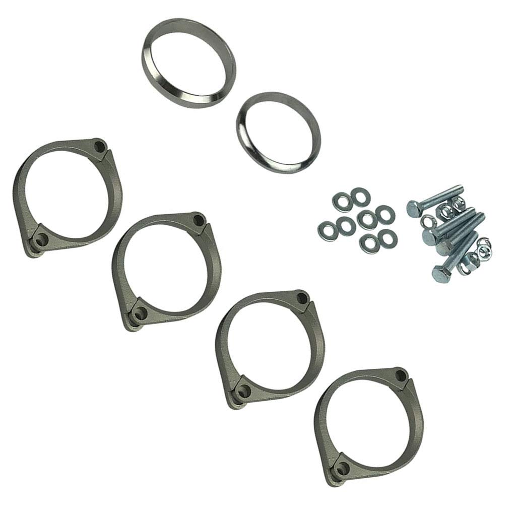 Topker Stainless Steel Exhaust Flange Muffler Back Box Repair Rusted Flange Clamp Kit Replacement for E46 M3 Z4M by Topker (Image #4)