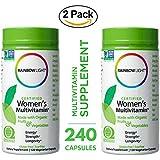 Rainbow Light - Food Based Certified Women's Multivitamin Supplement (2 Packs of 120 Capsules) - Support Heart, Bones, Brain, Skin, Immunity, Energy, Strength and Longevity - Organic, Vegan