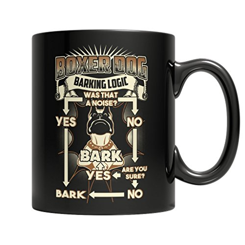 Big Bad Wolf In Grandma Dress Costumes (BEST QUALITY, BOXER DOG barking logic. . . MUG ,11 ounces sized, by Stormcool)