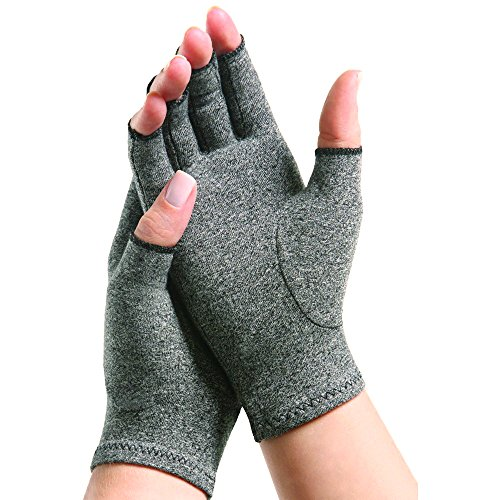 Dermrelief Arthritis Gloves - Compression Gloves for Rheumatoid, RSI, Carpal Tunnel, Tendonitis and Osteoarthritis, to provide warmth and arthritic joint pain relief (Large, 1 Pair) by Dermrelief