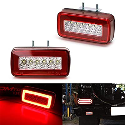 iJDMTOY Red Lens 3-In-1 LED Rear Fog Backup Light Kit Compatible With 1986-2020 Mercedes Benz W463 G-Class G500 G550 G55 G63 AMG, Functions as Rear Fog Driving Brake & Reverse Lights: Automotive