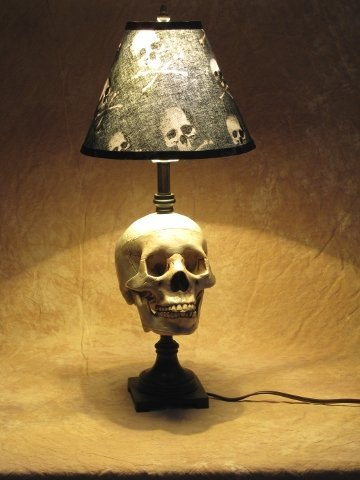 Amazon.com: Desk Lamp with Life-size Skull and Bone Shade: Home ...