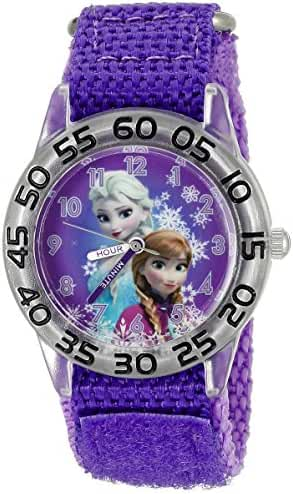 Disney Infinity Kids' W002432 Frozen Elsa & Anna Analog Display Analog Quartz Purple Watch