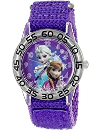 Infinity Kids' W002432 Frozen Elsa & Anna Analog Display Analog Quartz Purple Watch