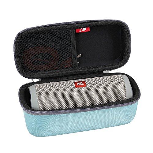 Hard EVA Travel Case for JBL Flip 3 / Flip 4 Splashproof Portable Bluetooth Speaker by Hermitshell (Teal)
