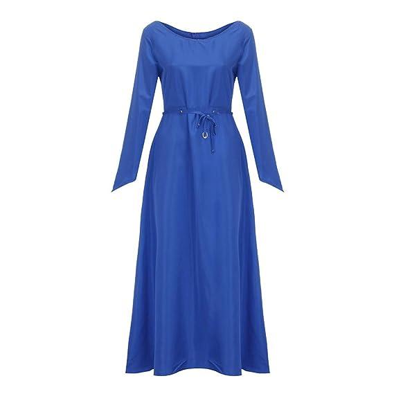 Vestido Largo Vintage ZARLLE Disfraz de Cuello en V Vestido de Traje Medieval Vestido renacentista para
