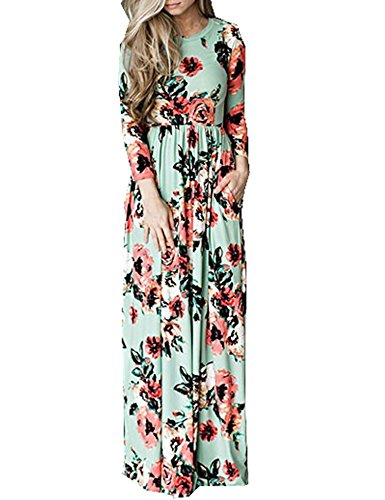 628eaf9e3bc0 Celltronic Women s Casual Floral Print Pocket Maxi Long Dress - Buy Online  in Oman.