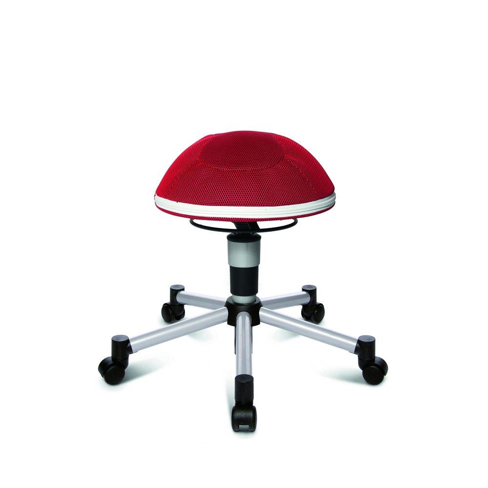 Bürostuhl ergonomisch ball  Topstar Sitness Half Ball Junior - Farbe: rot - Teppichbodenrollen ...