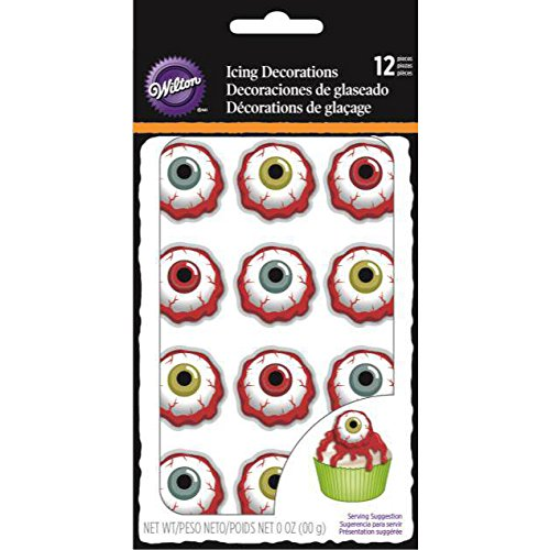 Royal Icing Decorations 12/Pkg-Bloody Eyeball -