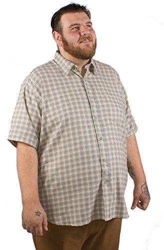 Big pour homme Coton Vallée Carreaux Marron pour homme 2x L 3x l 4x l 5x l 6x L 7x l 8x l