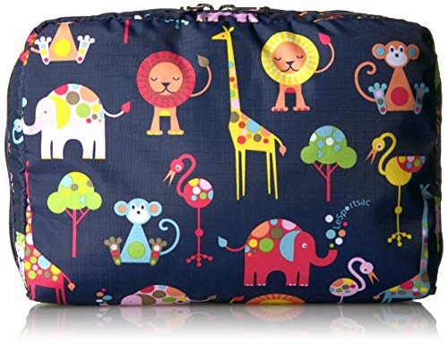 LeSportsac Baby Extra Large Rectangular Cosmetic Case, Zoo Cute Classic