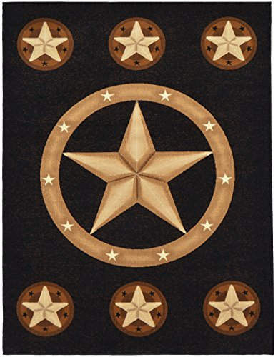 Rugs 4 Less Collection Texas Lone Star State Novelty Area Rug R4L 78 Black (8'X10') by Rugs 4 Less