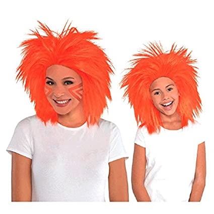 amscan Pink Crazy Party Wig Costumes 3 Ct.