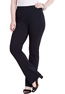 4ebb212a431 Roamans Women s Plus Size Petite Ultimate Ponte Bootcut Pant at ...