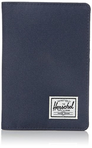 51ghWijoquL - Herschel Men's Raynor RFID Passport Holder, Navy/Red, One Size