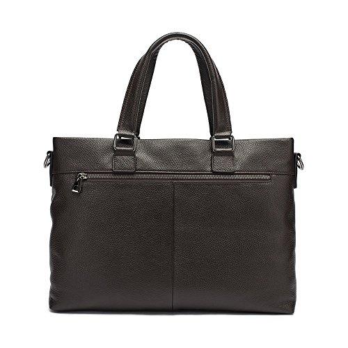 Borsa 38x27x8cm Bag For Cafe Uomo nero colore Tlmydd Computer Business a tracolla Men nero Fashion Briefcase Laptop marrone Color vxEn66wUI4