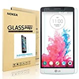 LG G3 Screen Protector, NOKEA [9H Hardness] [Crystal Clear] [Easy Bubble-Free Installation] [Scratch Resist] Tempered Glass Screen Protector for LG G3 (For LG G3)
