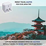 Japan, Philippines Travel Adapter Plug bu Ceptics - USA 3 Pin Polarized to 2 Prong Unpolarized - Type A (3 Pack) - Dual Inputs - Ultra Compact - Perfect for Cell Phones, Tablet, Camera Chargers