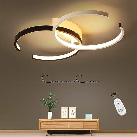 Lámpara LED de Techo, Iluminación Foco Interior Araña Luz Regulable Control Remoto 55cm 20-28W Estilo Moderno Material de Metal y Acrílico para ...