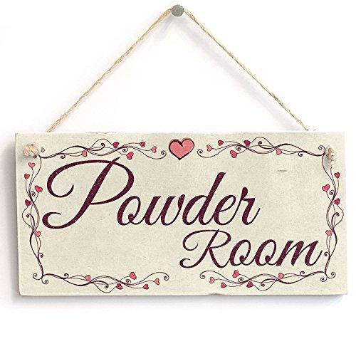 Meijiafei Powder Room - Heart Design PVC Sign/Plaque 10