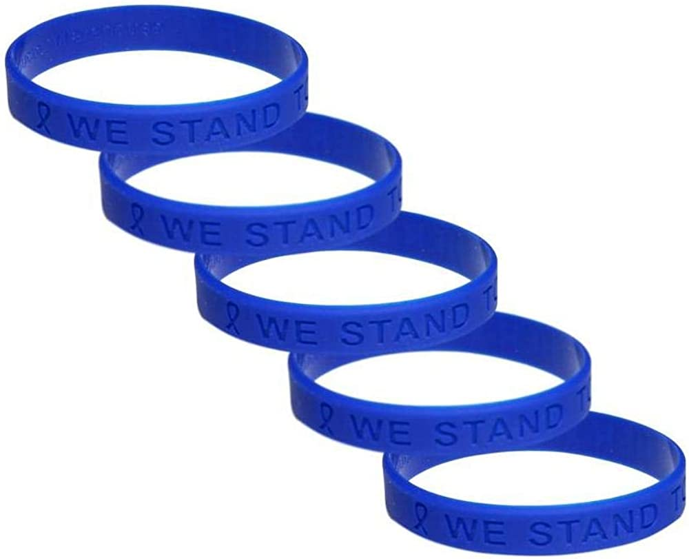 Amazon Com Colon Cancer Awareness Silicone Bracelet 5 Pack Jewelry