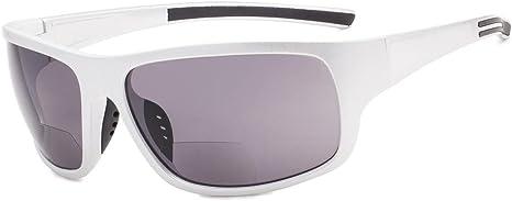 TALLA +1.50. Eyekepper Bifocales Gafas De Sol +1.50 Strength Lectura Gafas De Sol (Brillante Plata Marco/Gris Lente)