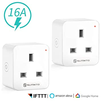 Slitinto WiFi Smart Plug Socket Works with Alexa, Google Home and IFTTT,  Mini Smart Outlet with Energy Monitoring, App Remote Control and Timer
