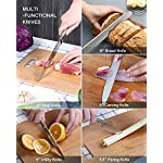 Professional Kitchen Knife Set with Block
