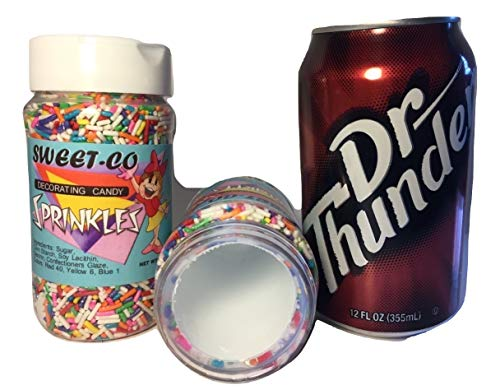 Stash Safes Diversion Secret Safe Sprinkles Jar with Free Bonus Can Container to Hide Money Jewelry Stuff