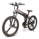 51ghYwms1TL. SS150 Sararoom, mountain bike elettrica da 26 pollici, in lega di alluminio, con 21 livelli di supporto del cambio, batteria…