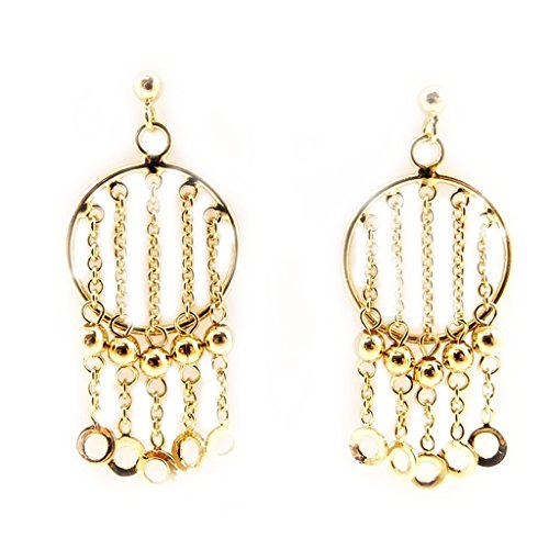 Earrings plated gold 'Danse Du Ventre' .