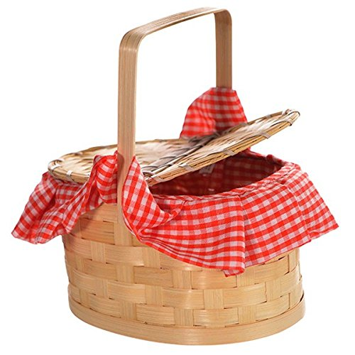 Gingham Basket (Little Red Riding Hood Basket)