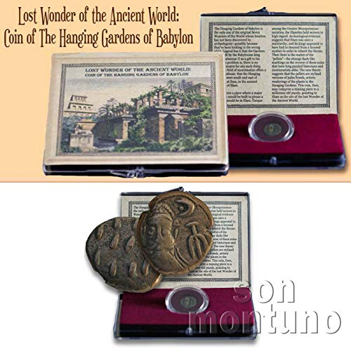 Urn Bronze Individual - LOST WONDER OF THE ANCIENT WORLD - Drachm Coin from the Hanging Gardens of Babylon in Clear Box with Certificate of Authenticity - Elymais ELAM Persian Drachma IRAN