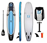 SurfStow 57000 VoyageAir 1100, Inflatable SUP, 11 Foot, Includes Pump, Paddle and Backpack