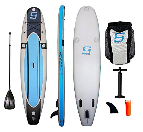 SurfStow 57000 VoyageAir 1100, Inflatable SUP, 11 Foot, Includes Pump, Paddle and Backpack by SurfStow