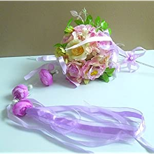 Artificial Silk Flower Wedding Hanging Ball Decoration Home Party 10