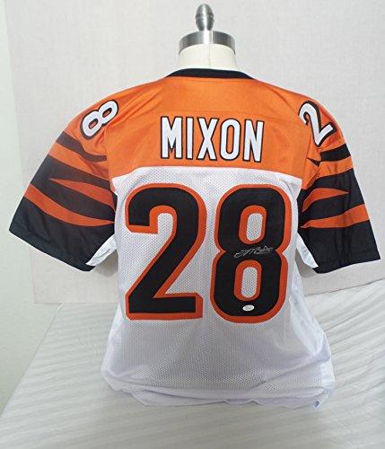 Joe Mixon Signed Cincinnati Bengals White Autographed Jersey JSA Cincinnati Bengals Autographed Jerseys