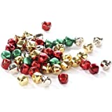 Package of 200 Miniature Assorted Holiday Colored Jingle Bells