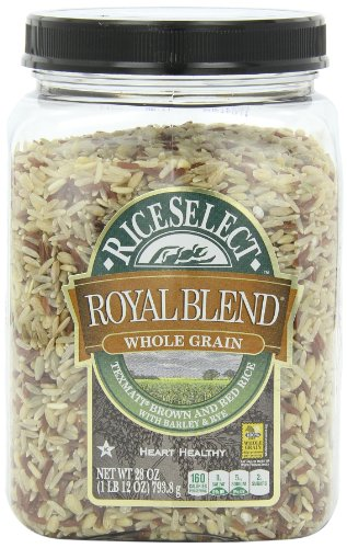RiceSelect Royal Blend, Whole Grain Texmati Brown & Red Rice with Barley & Rye, 28-Ounce Jars (Pack of 4) (28 Oz Jar)