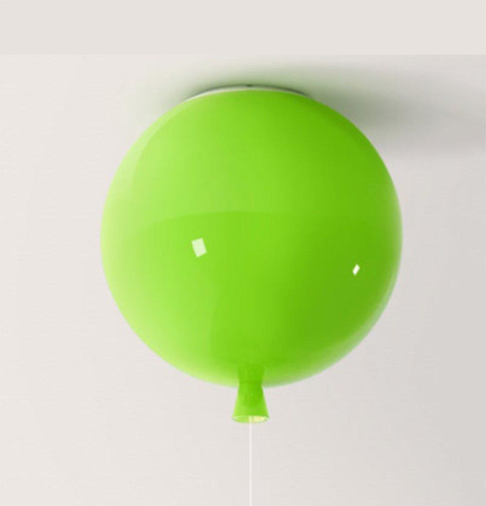 Le Lustre Simple Acrylique De Pièce d\'enfants A Mené La Lampe De Plafond Colorée De Ballon De Chambre À Coucher De Salon, Blue, 25Cm [Classe énergétique A] SQL