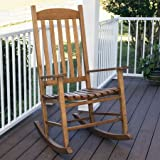 Mainstays Outdoor Traditional Natural Wood Slat Rocking Chair