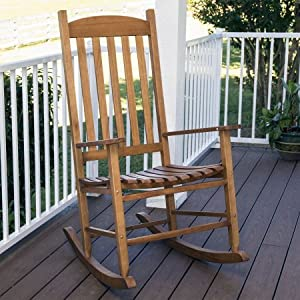 4. Mainstays` Outdoor Rocking Chair, Brown